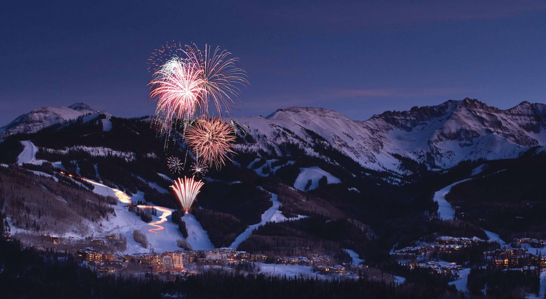 Telluride when the sun goes down; Copyright: Telluride Tourist Office