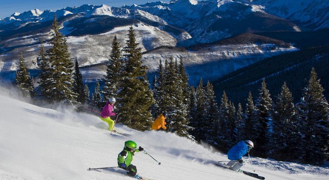 Racing the family in Vail; Copyright: Jack Affleck