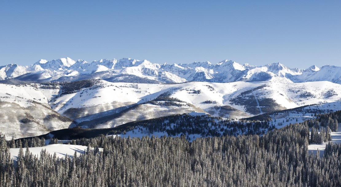 A view over the mountains in Vail; Copyright: Jack Affleck