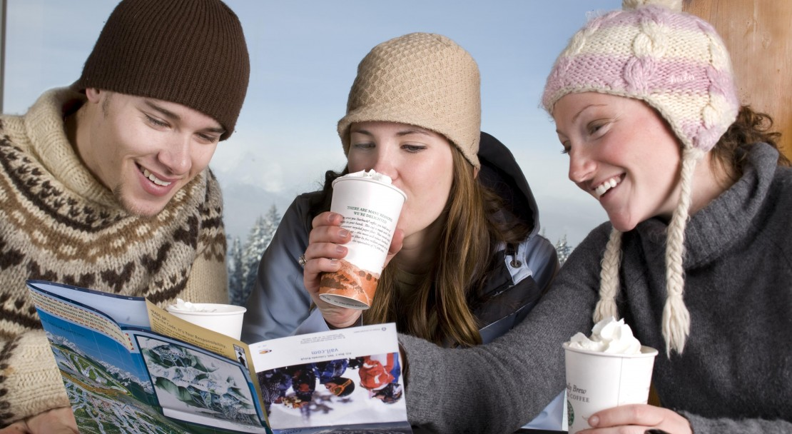 Grab a hot chocolate to warm up in Vail; Copyright: Jack Affleck