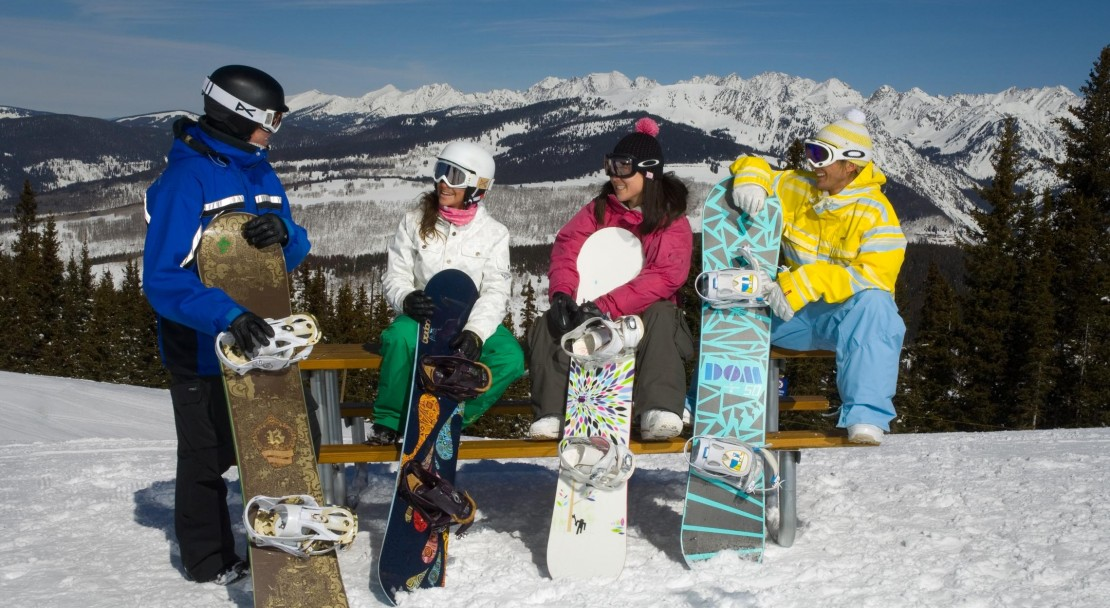 Chilling out after a day of skiing in Vail; Copyright: Jack Affleck
