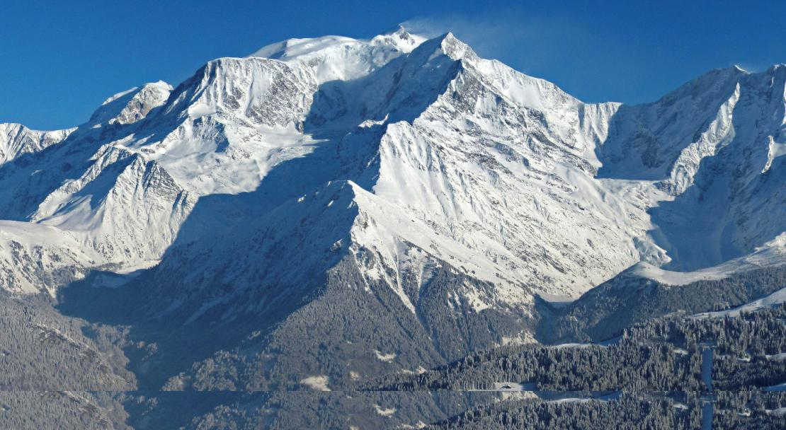 Mountain range in St Gervais