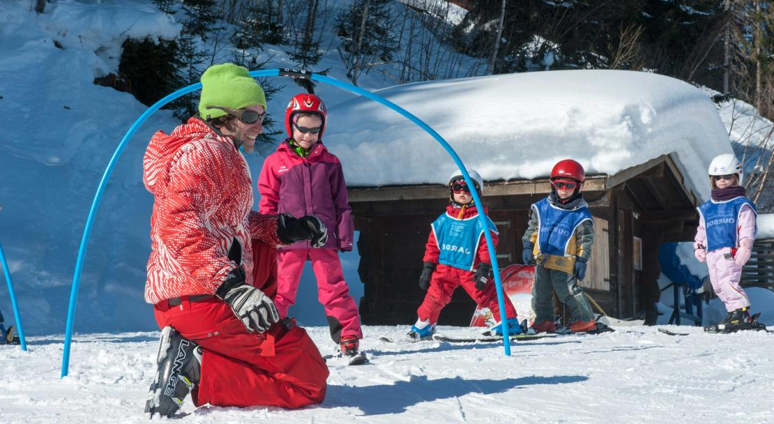 Kids slopes in St Gervais