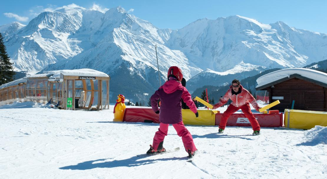 Learning to ski in Saint Gervais