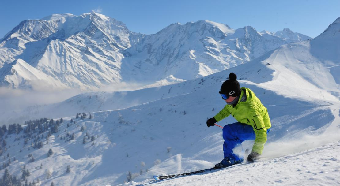 Skiing in Saint Gervais