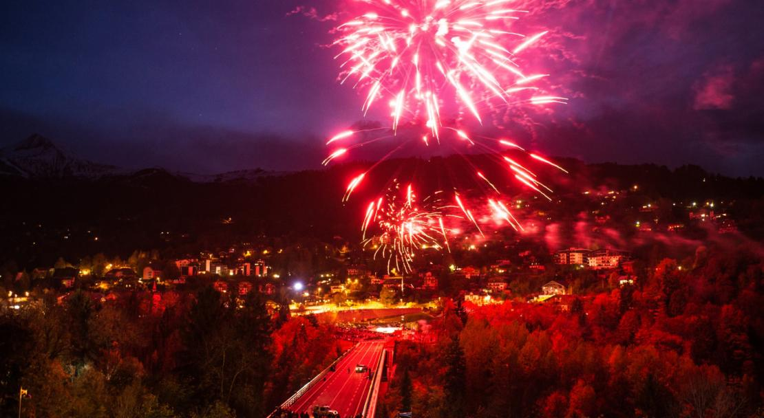 Fireworks over Saint Gervais