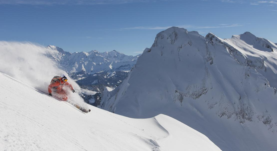 Advanced skiing in La Clusaz; Copyright: Pascal Lebeau