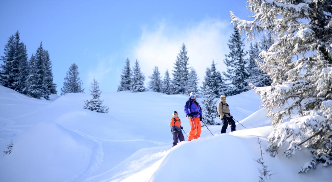 Skiing through the trees - La Clusaz; Copyright: G Dieu