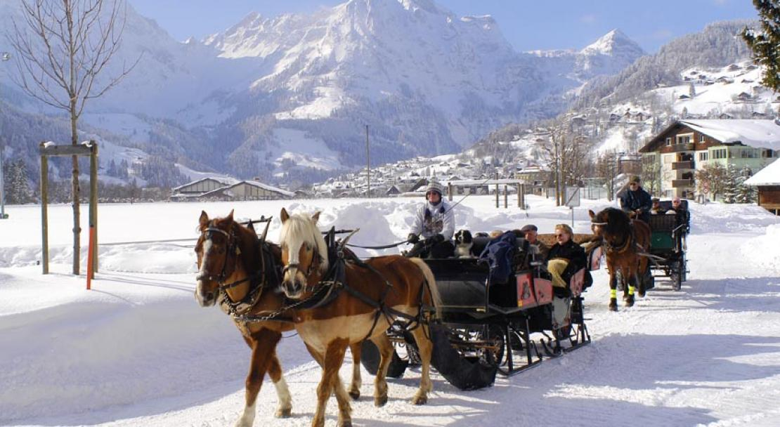 Horse drawn carriage in Engelberg