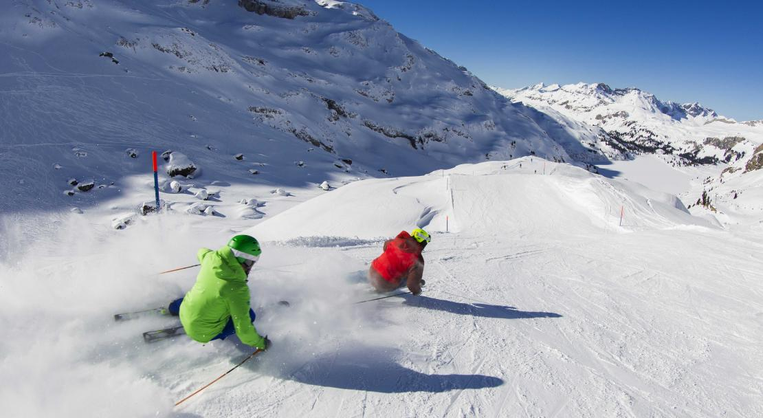Quiet pistes in Engelberg