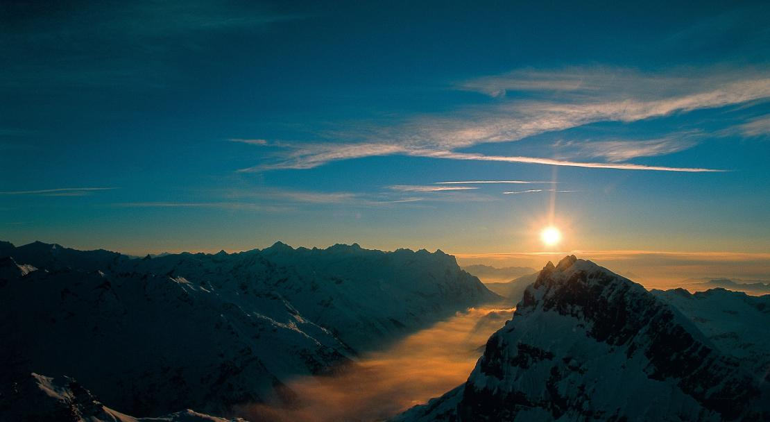 Sunset in Engelberg