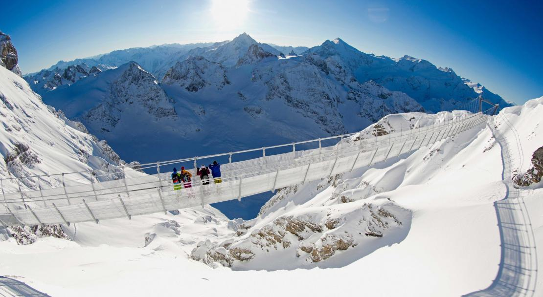 Suspension bridge in Engelberg