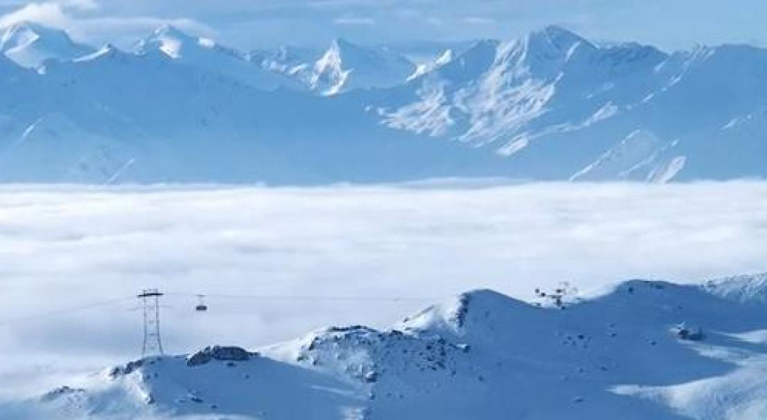 Above the clouds at Films Laax
