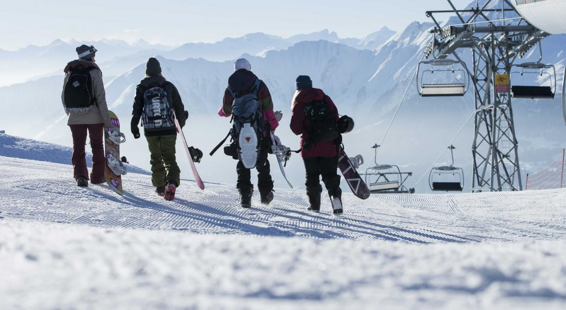 Top of the lifts in Films Laax