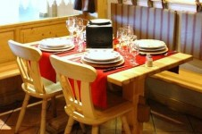 Try a traditional French raclette in the heart of La Rosiere at the warm and homely restaurant La Flam