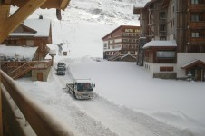 Travelling through the village of Alpe d'Huez