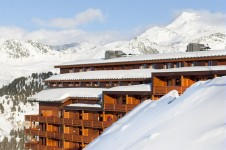 4 star accommodation boasting stunning views of La Plagne ski resort and its surrounding mountains