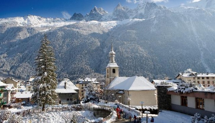 Chamonix Town, surrounded by world class terrain.