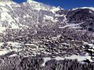 Villars from above in the middle of winter