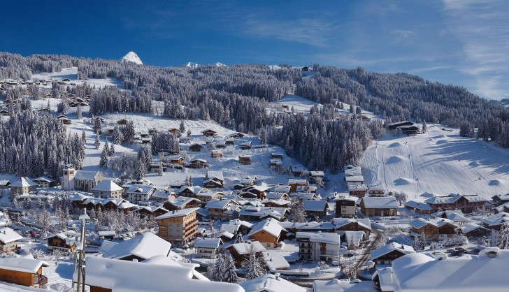 The ski resort of Les Gets in Les Portes du Soleil