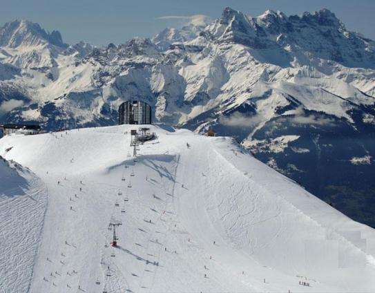 The beautiful ski area of Leysin