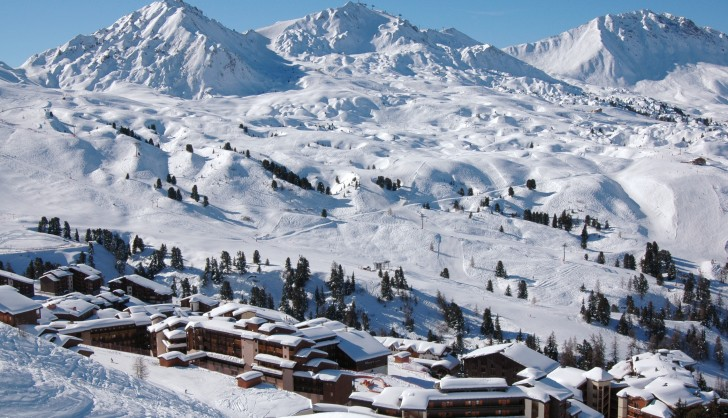 The and ski slopes of La Plagne