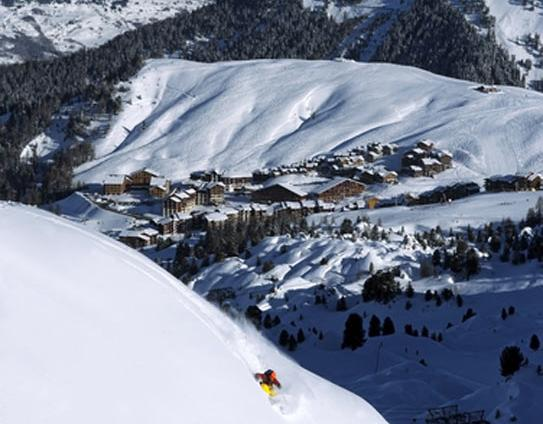 La Plagne and surrounding Paradiski Area; Copyright: Philippe Royer