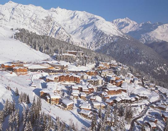 La Rosiere ski resort in the Tarrentaise from above.