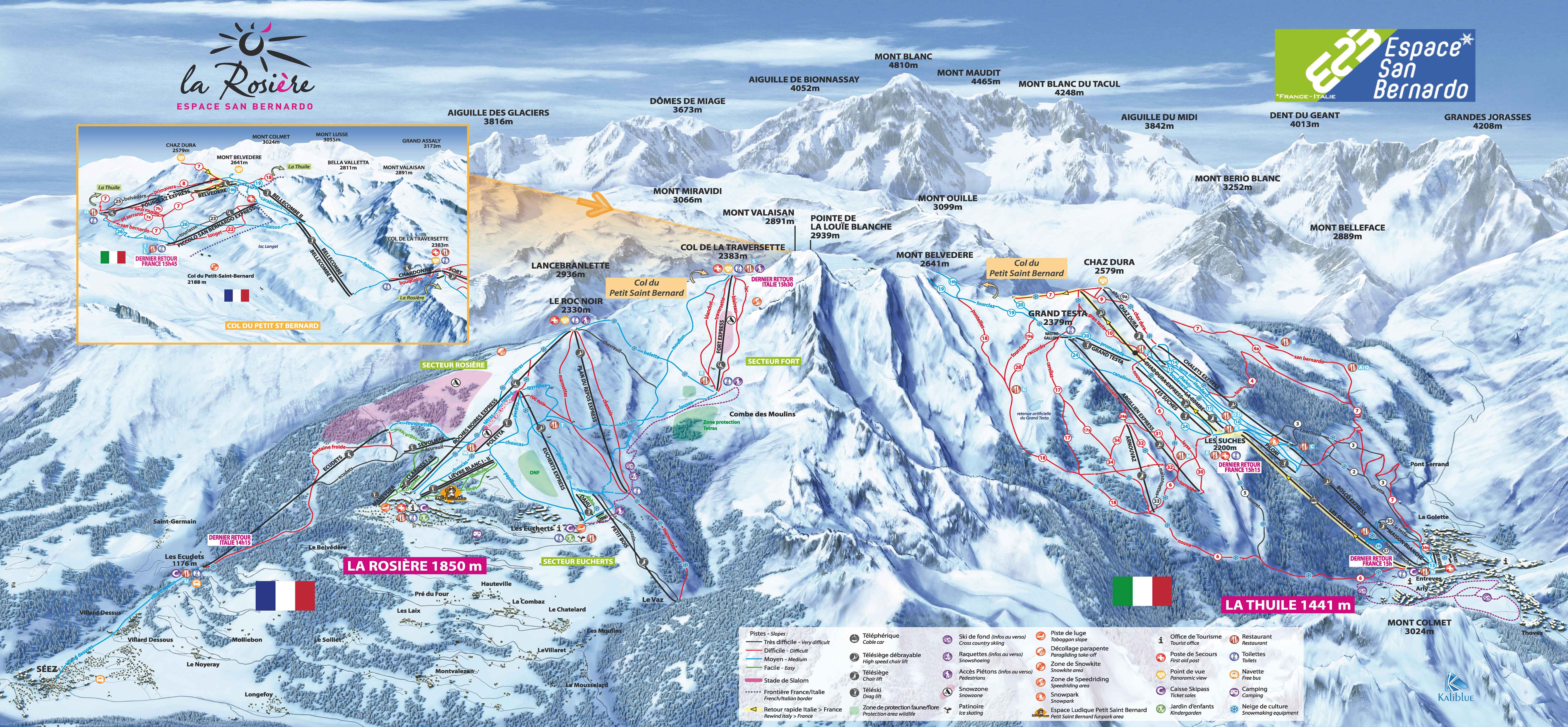 La Rosire Piste Maps and Ski Resort Map PowderBeds