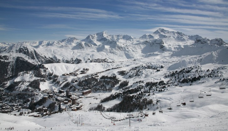 The town of Les Arcs
