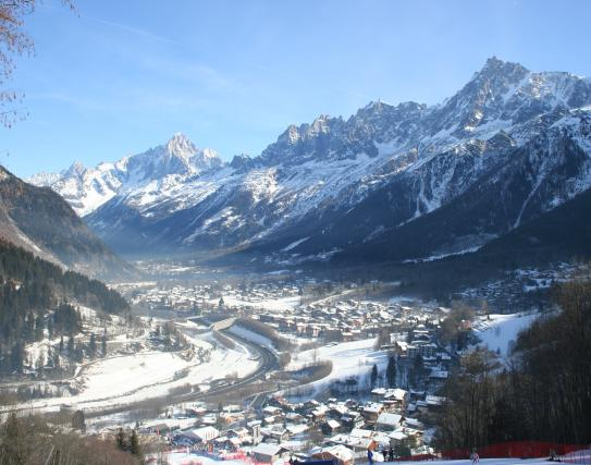 Racing in Les Houches