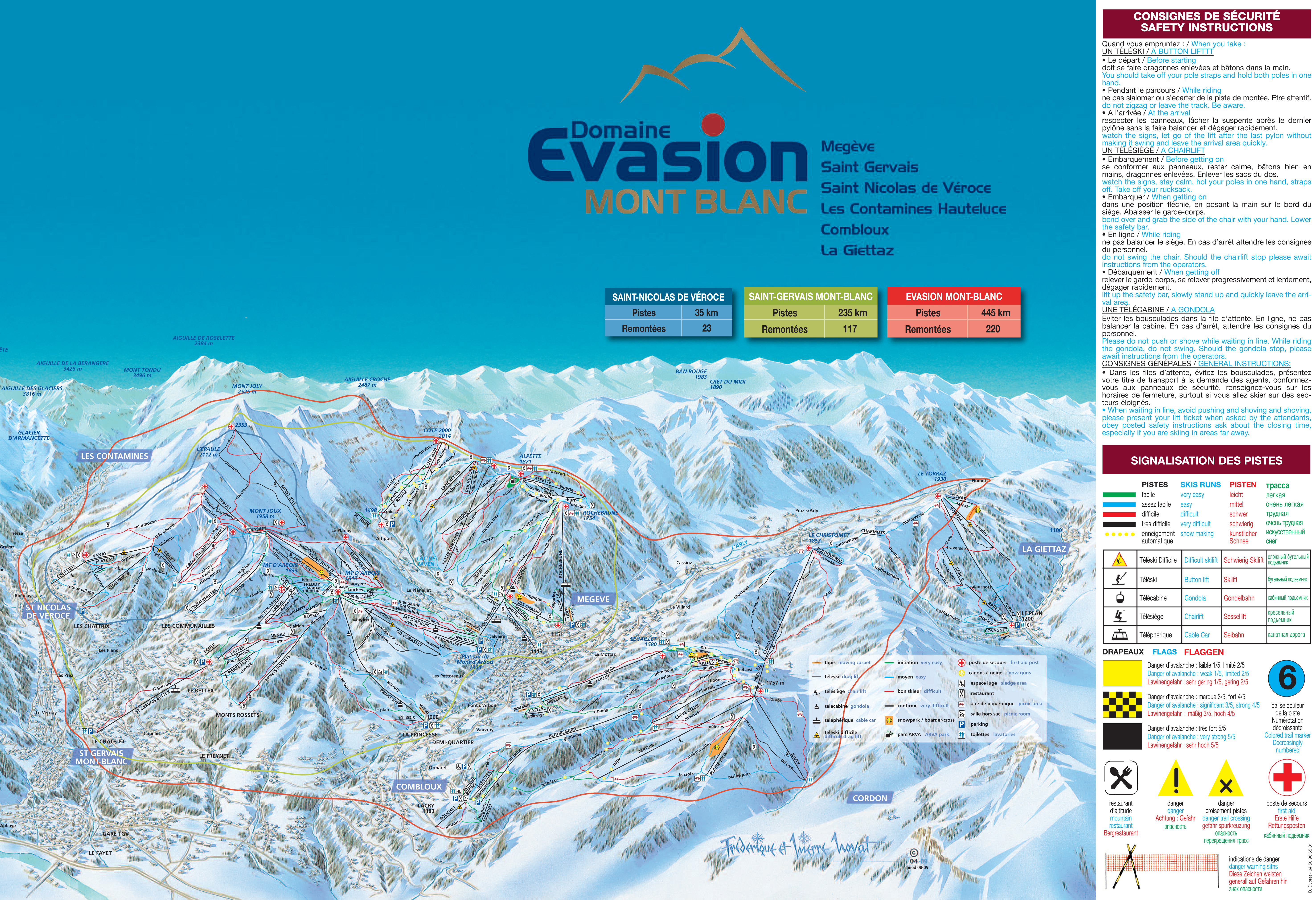 Megeve Piste Maps and Ski Resort Map PowderBeds