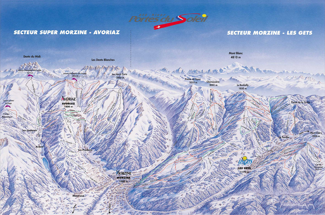Piste Map Morzine Morzine Piste Maps and Ski Resort Map | PowderBeds