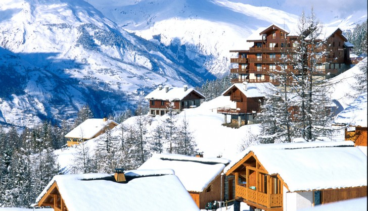 The resort of Peisey - Vallandry