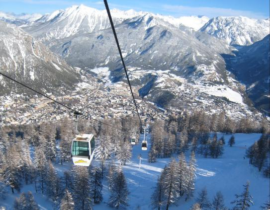 Cable car in Serre Chevalier