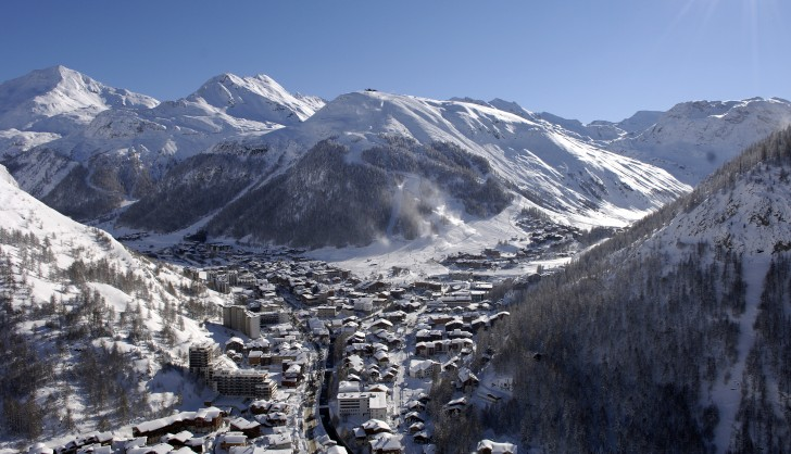 Val d'Isere from the Air