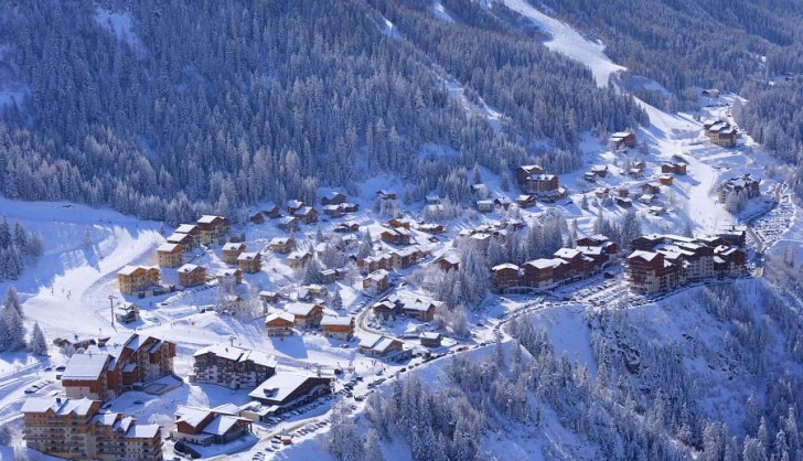 The resort of Valfrejus from above
