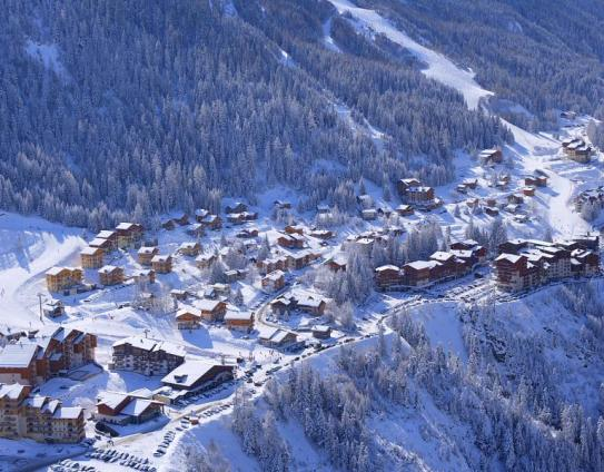 Birds eye view of Valfrejus