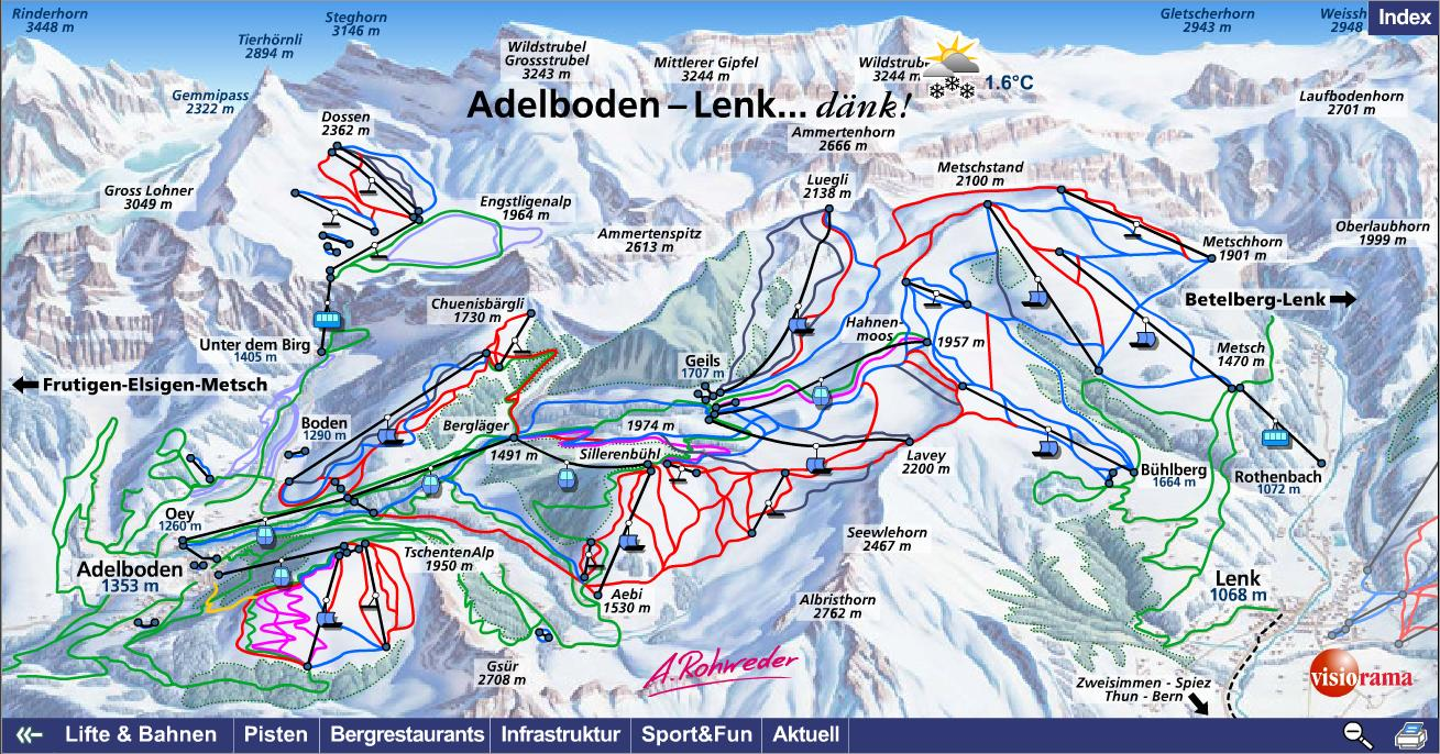 Adelboden Piste Maps and Ski Resort Map PowderBeds