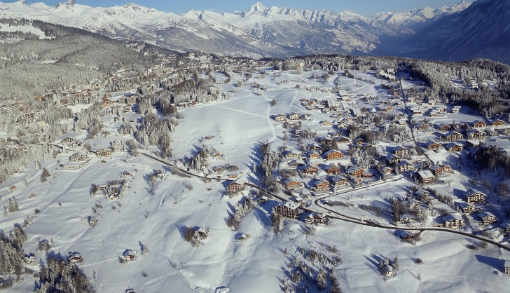 Crans Montana from the air.