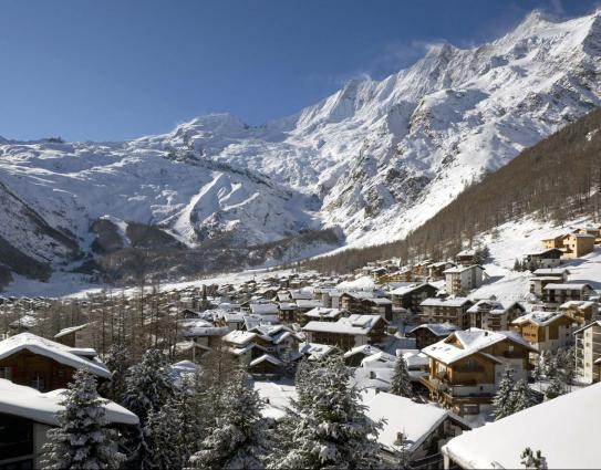 Saas Fee Ski Resort Switzerland