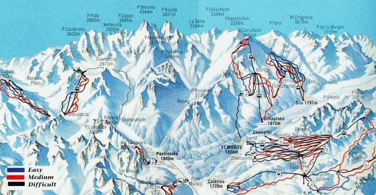 St Moritz Piste Maps and Ski Resort Map PowderBeds