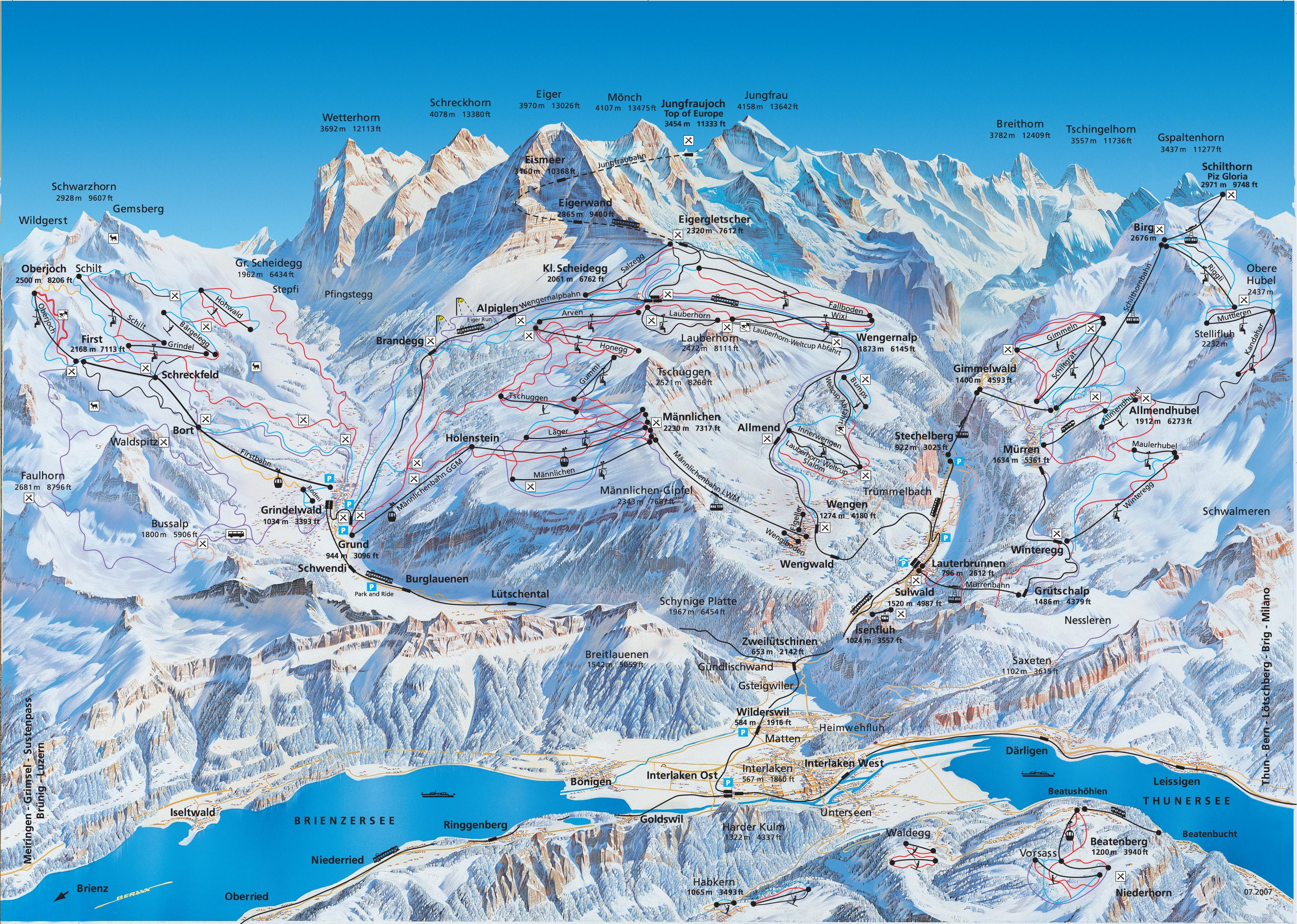 Image result for wengen ski map Венген (Wengen), Швейцария - горнолыжный курорт Венген в Швейцарии - история, путеводитель по Венгену, фото. Карта горнолыжных склонов Венгена, цены