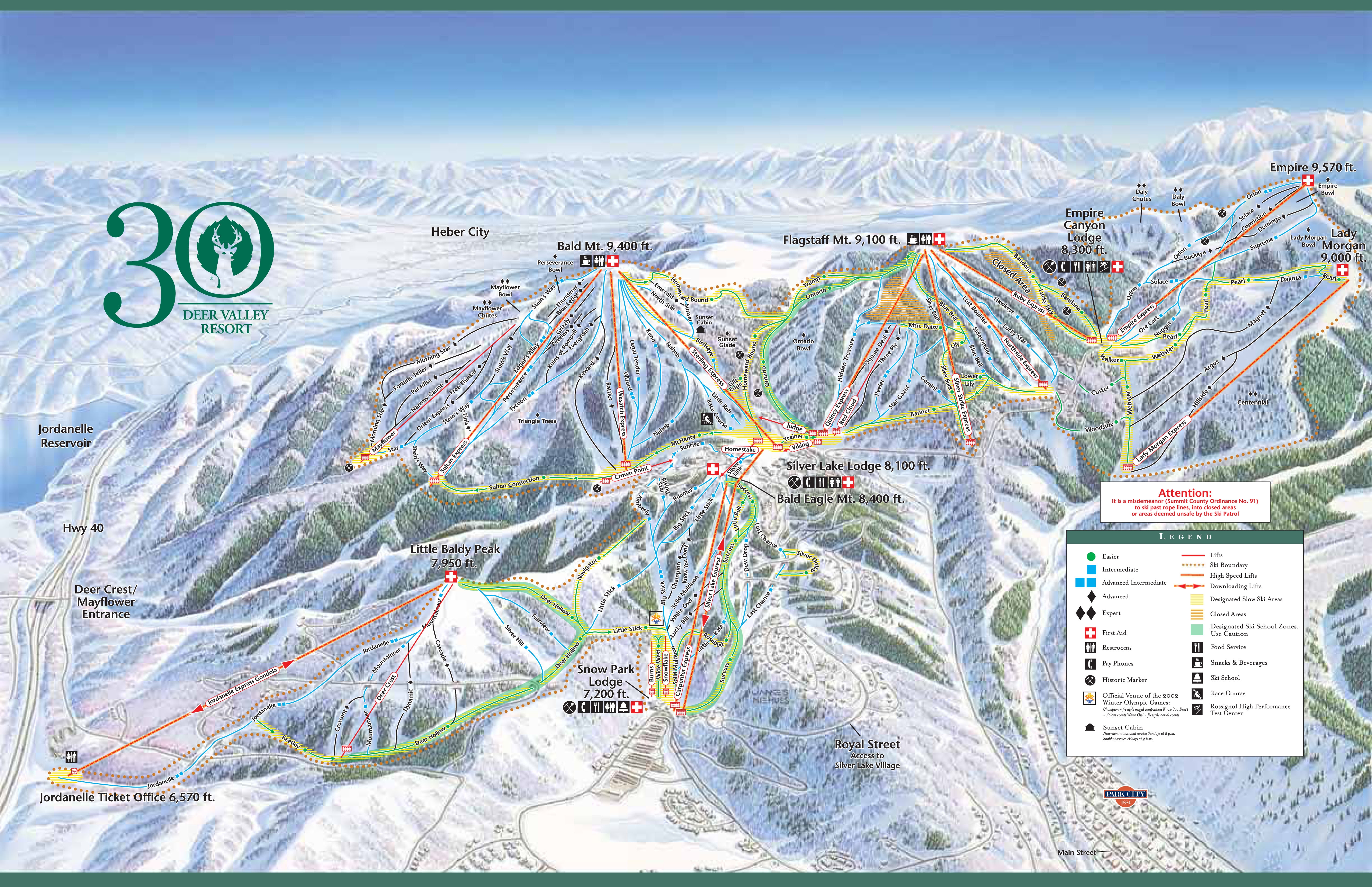 Deer Valley Piste Maps and Ski Resort Map
