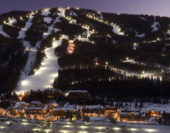 Keystone Ski Resort by night