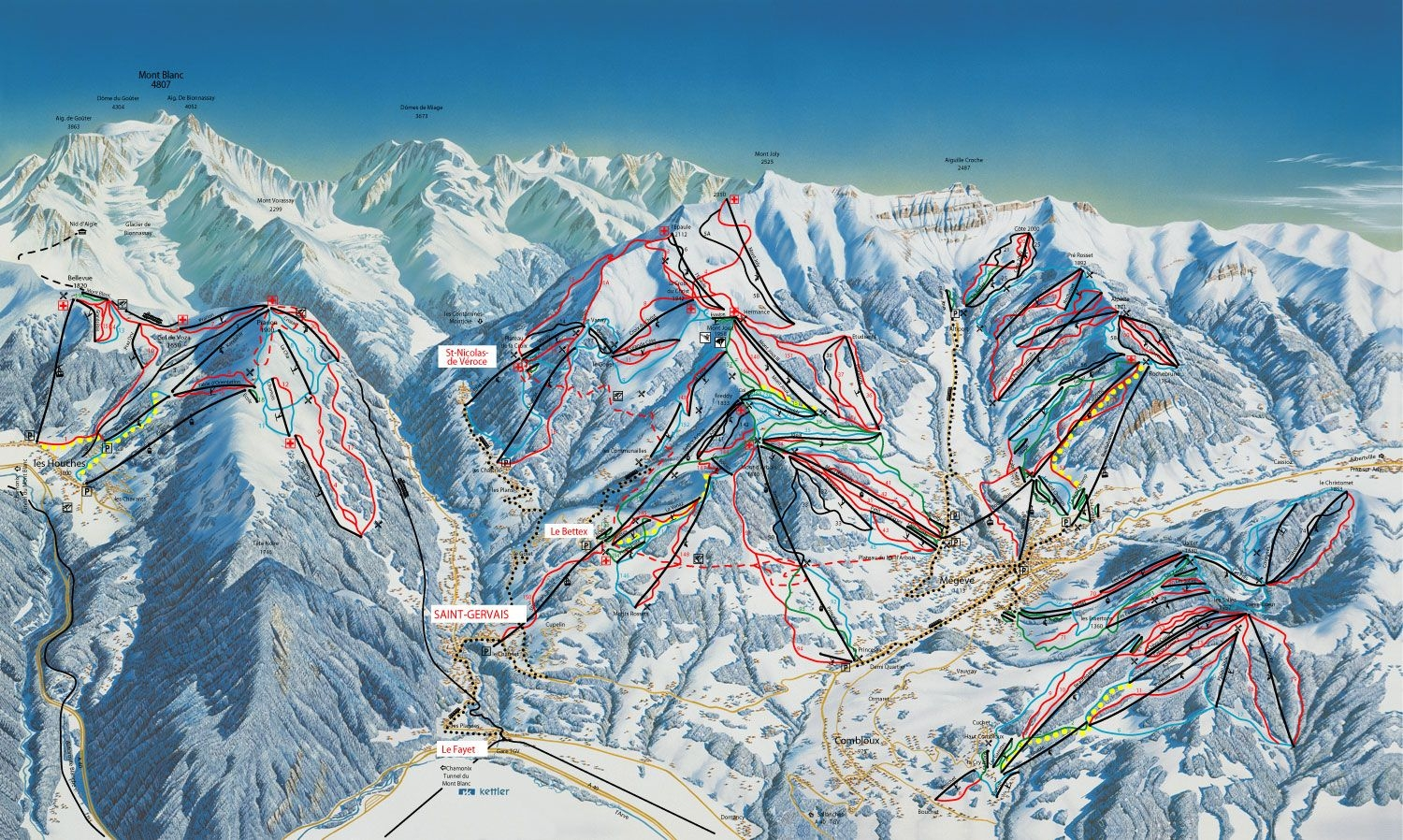 St Gervais Piste Maps and Ski Resort Map PowderBeds