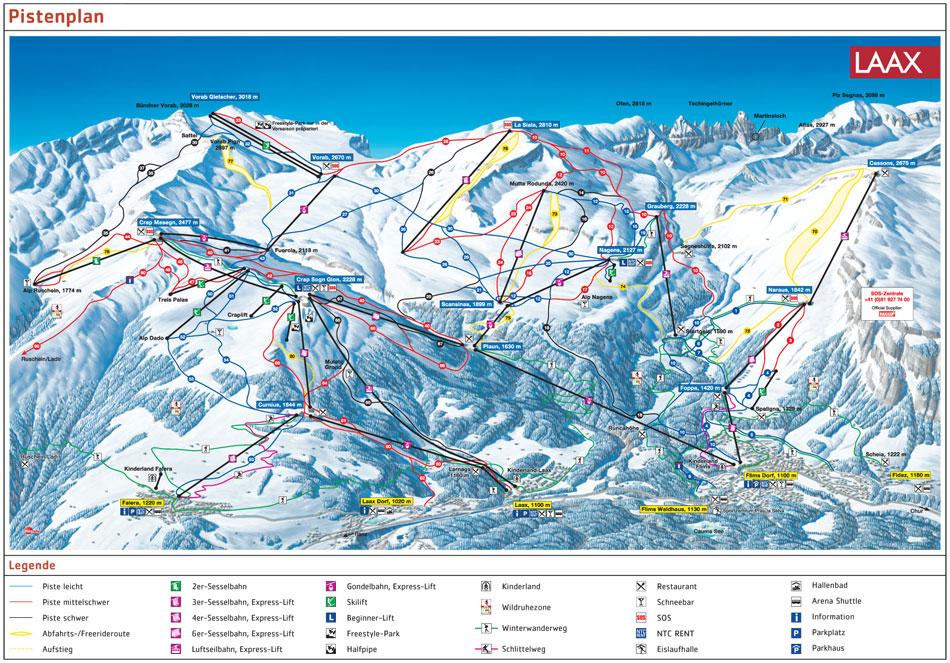 Laax piste map