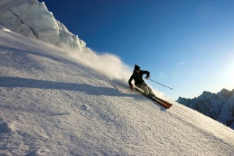 Powder skiing in Chamonix
