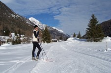 There are some good cross-country trails in Vallorcine