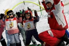 Val Thorens is a good choice for beginners with its nursery slopes and great ski schools